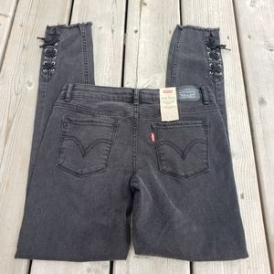 NWT Levis 710 super skinny lace up side jeans
